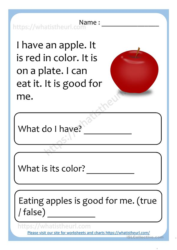 2nde comprehension worksheets reading for english esl powerpoints distance learning and physical classrooms