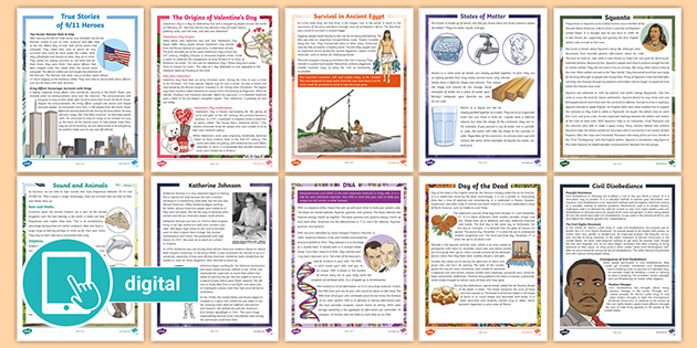 5th grade reading comprehension free worksheets stories with questions