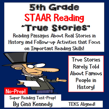 5th grade reading star practice worksheets staar test prep passages about true stories in history original