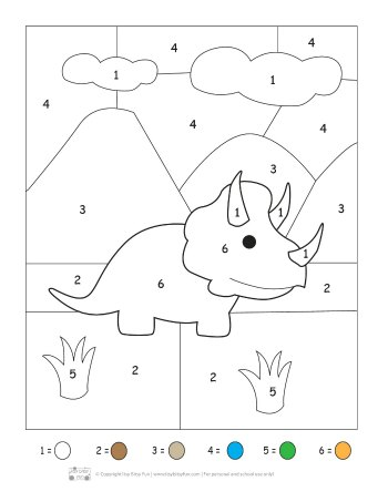 Amazing dinosaur worksheets preschool color by numbers printable and kindergarten pack itsybitsyfun com math