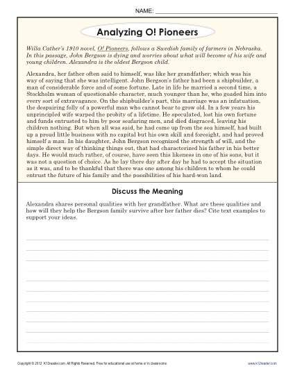 Analyzing informational text worksheets free printable 4th