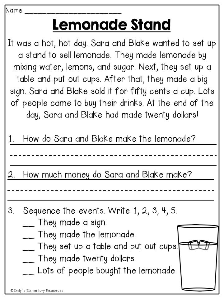 Astonishing 1st grade reading worksheets free first comprehensionable