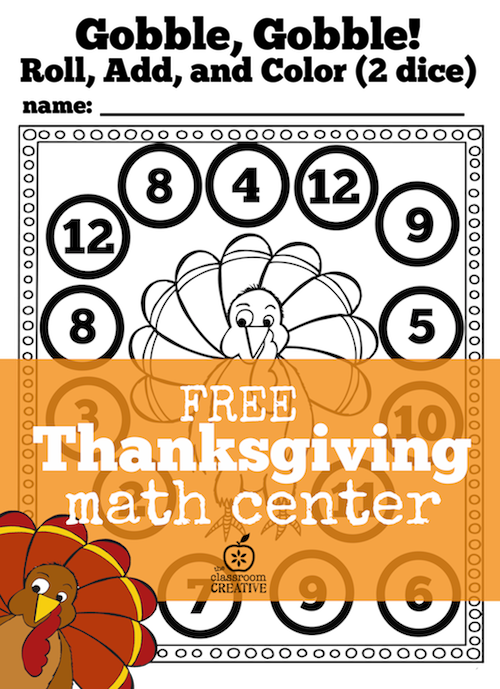 Awesome thanksgiving math kindergarten image ideas center for and firstade free