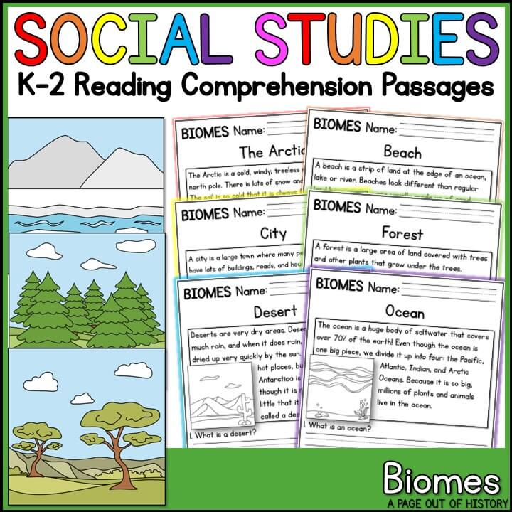 Bio mes reading comprehension pdf phenomenal biomes passages k page out of history success with grade