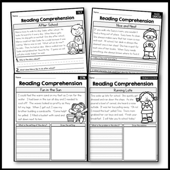 Character trait passages for 2nd grade struggling readers worksheets fluency bicycle built two problem of the day