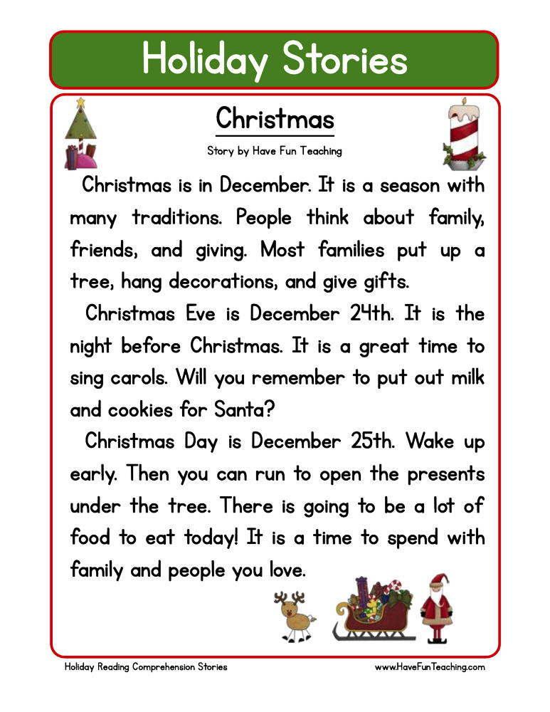 Christmas reading comprehension 2nd grade fabulous worksheet have