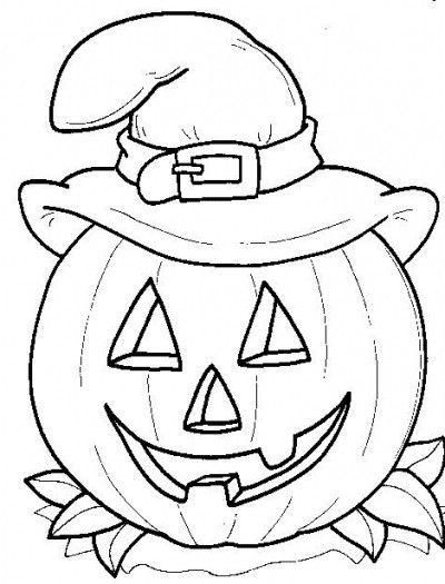 Coloring page halloween free pages pumpkin