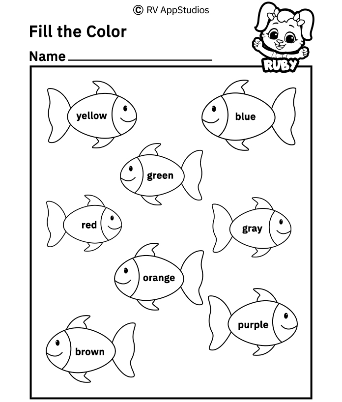 Coloring worksheets for kids printable pages astonishing free fill ther in pictures