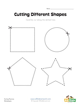 Cutting worksheets for kids shapes worksheet thumbnail preview 327x440 stunning picture inspirations number