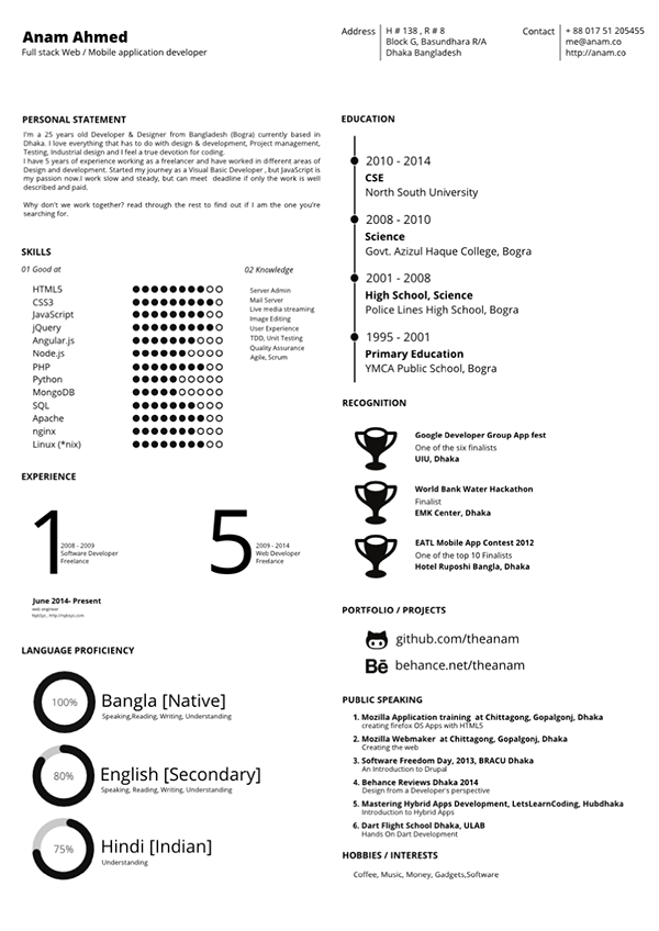 Cv pictures printable free one page resume on behance excelent sharkloring pdf butterfly
