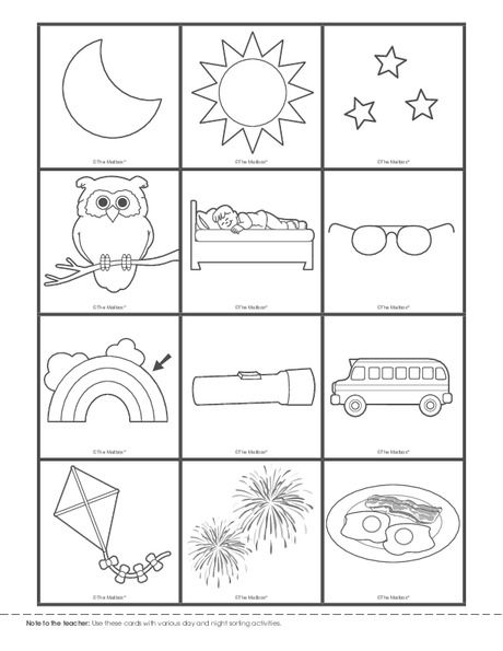 Day and night printable worksheets for kindergarten pin on pk science staggering picture inspirations