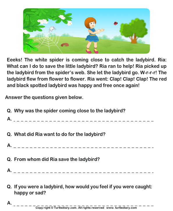 Download and print turtle diarys fill in the blanks from comprehension ria reading worksheets 2nd grade