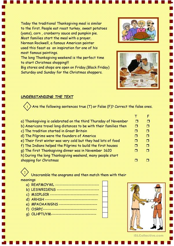 Esl intermediate readingnsion worksheets thanksgiving for pre english distance learning and physical classrooms