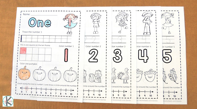Excelent kindergarten worksheets image ideas free fall counting for