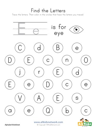 Find the letter worksheet all kids network worksheets for toddlers preschool free lowercase cut and paste craft
