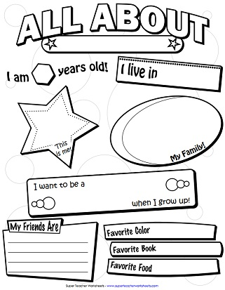 First day of kindergarten worksheets all about me printable back to school staggering free story
