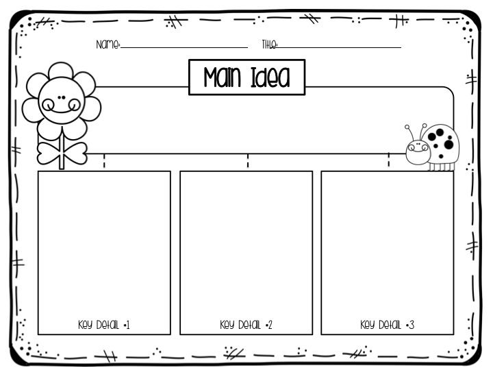 First grade main idea and details worksheets amazing ship shape the may packet