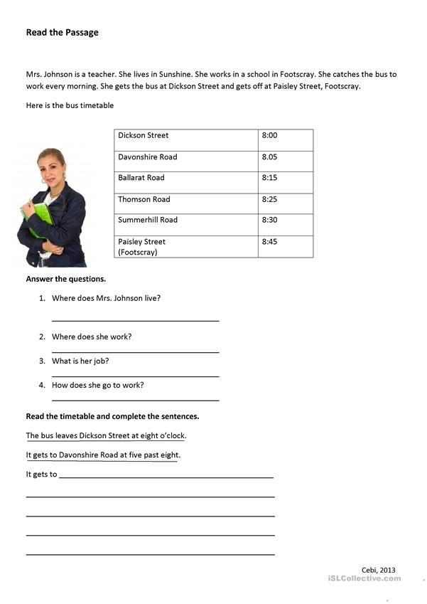 Free bus schedule worksheets timetable with bit ofng english esl for distance learning and physical classrooms