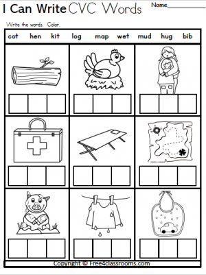 Free cvc kindergarten worksheets free4classrooms 300x401 phonics beginning sounds archives and no login incredible sound pictures for photo