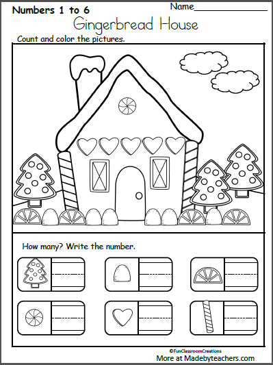 Free december christmas worksheets for kindergarten writing numbers made by teachers math gingerhouse count