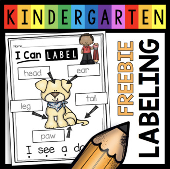 Free how to label the dog kindergarten writing freebie labeling original excelent pictures picture