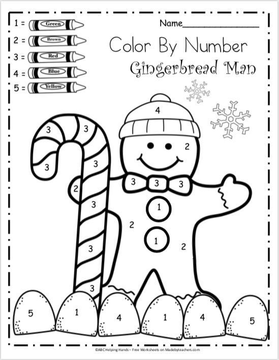 Free kindergartenh worksheets for winter color by number travel ideas all around the world autumn christmas