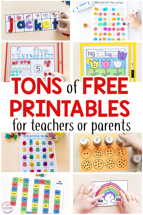 Free printable activities for kids printables and learning
