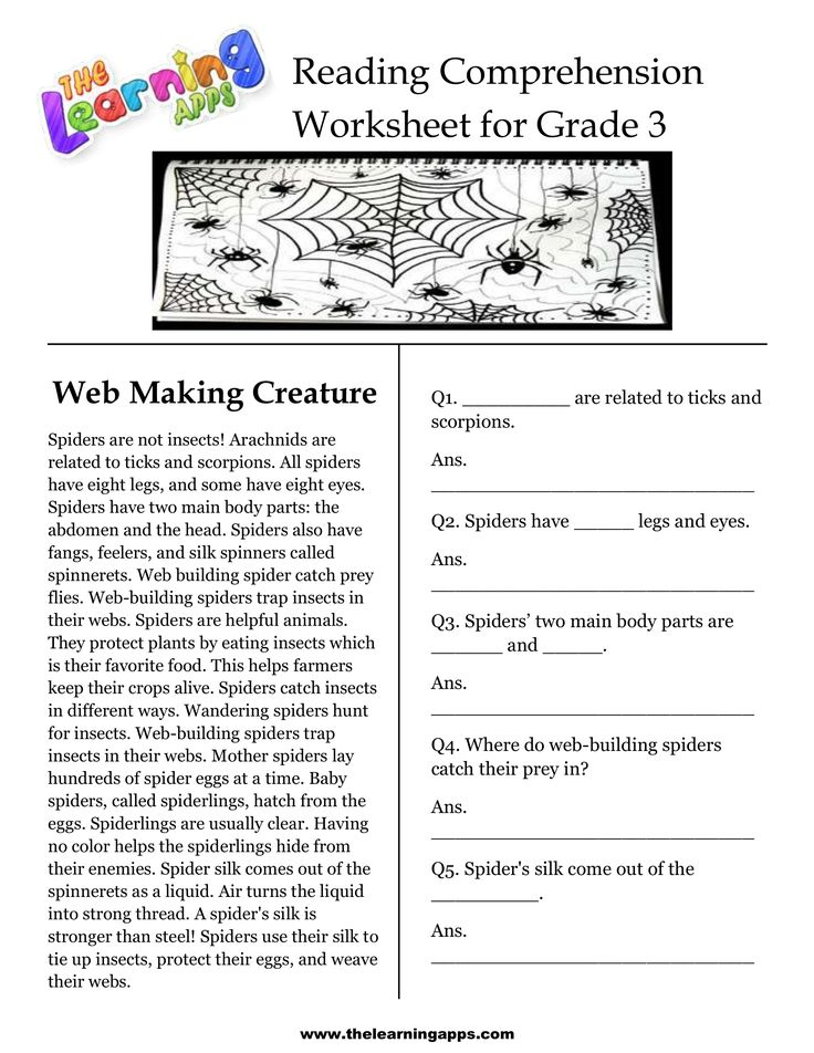 Free printable readingn worksheets for 3rd grade awesome