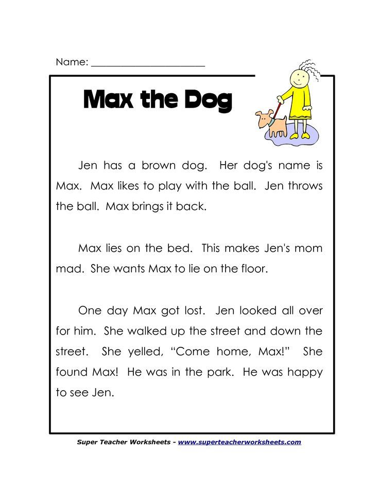 Free printable readingsion worksheets for 1st grade first