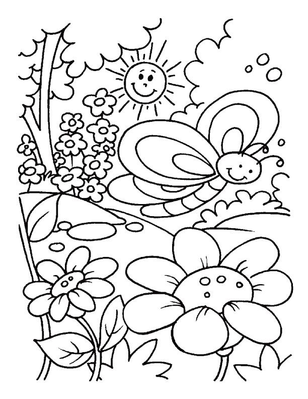 Freetable spring coloring pages page kindergarten summer sheets outstanding