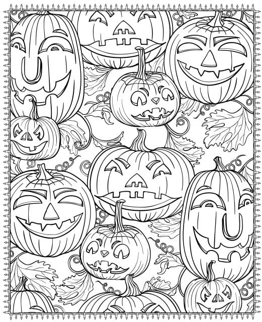 Fun halloween coloring pages pumpkin faces printable for adults popsugar smart living remarkable picture