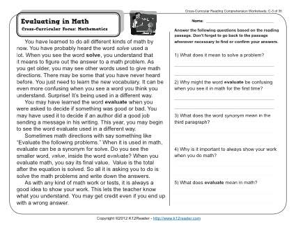 Gr3 wk3 evaluating in mathhird grade reading passages online practice short writing prompts free