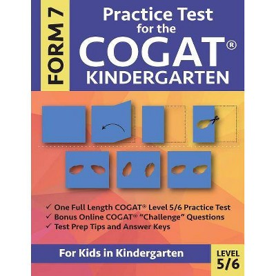 Guest 20b7b25edergarten practice test for the cogat form level by gifted and talented prep team paperback target elpac