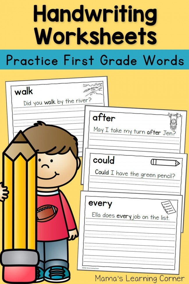 Handwritingts for kids dolch first grade words mamas learning corner sentences 650x975 3rd