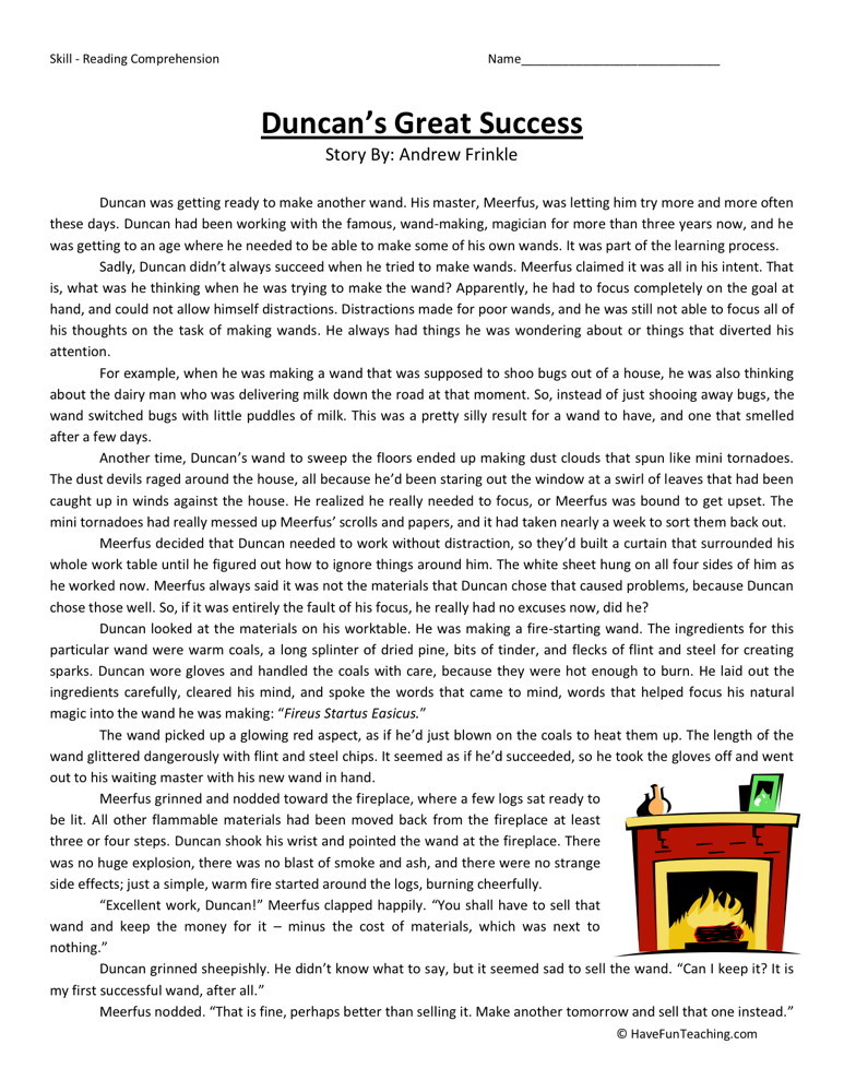 Historical fiction reading comprehension worksheets 2nd grade common