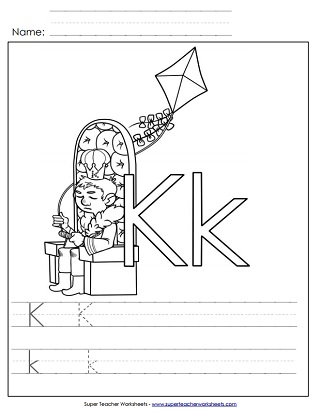Incredible letter k worksheets for toddlers image inspirations tracing preschool