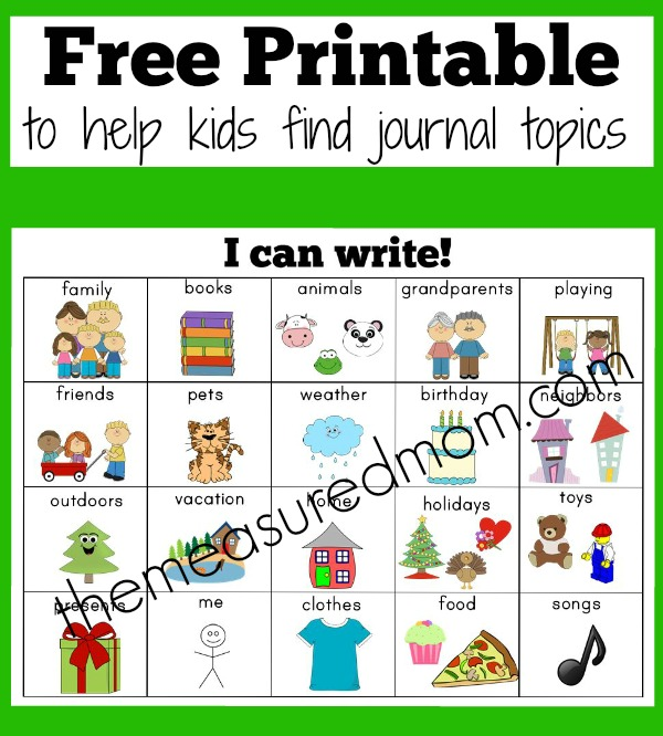 Journal writing topics preschool the measured mom1 for kindergartenntable free worksheets pages