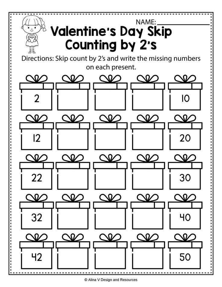 Kindergarten math worksheets picture ideas valentines day skip count by 2s and activities for preschool