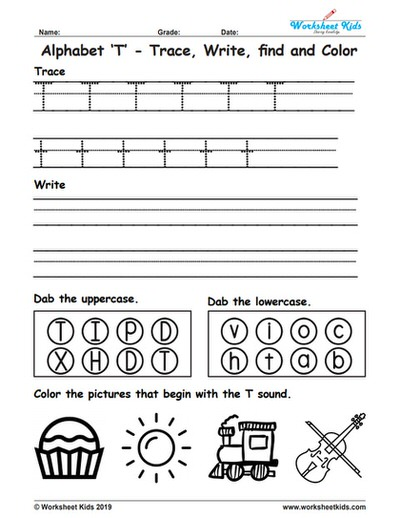 Letter t worksheets for kindergarten photo ideas alphabet trace write find color free printable pdf identifying preschool the
