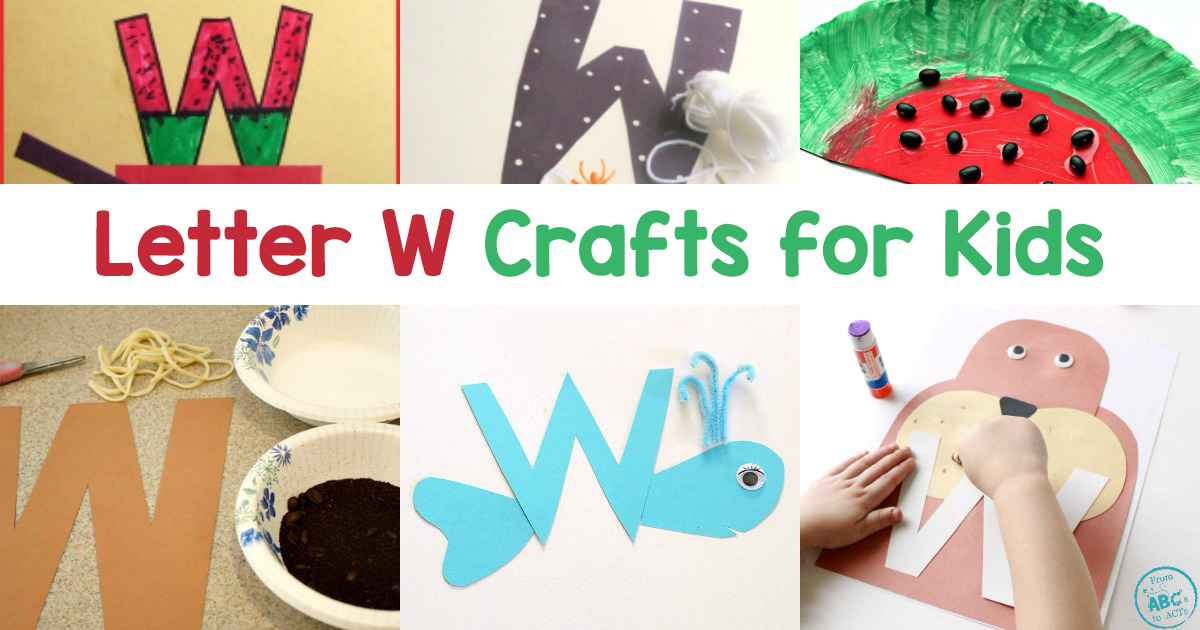 Letter w crafts for preschool or kindergarten fun easy and educational pictures