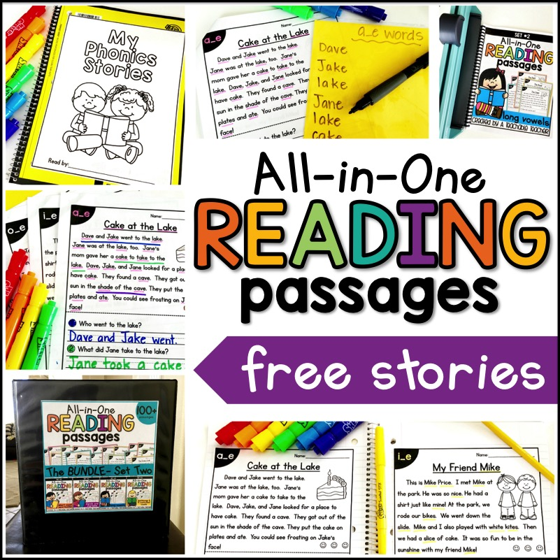 Leveleding passages free printable passage all in one collage pic awesome picture ideas phonics students love to