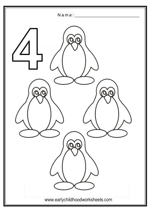 Marvelous number worksheets for preschool coloring numbers birds theme math activities