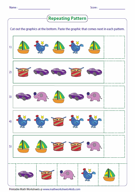 Marvelous pattern worksheet for kids picture ideas curve printable math about time boundaries children zig zag