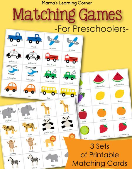 Matching games for toddlers printable free match game packet fruit themedl activities