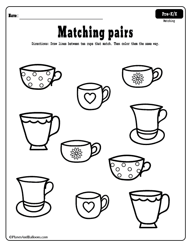 Matching year old worksheets free printable for olds photo ideas