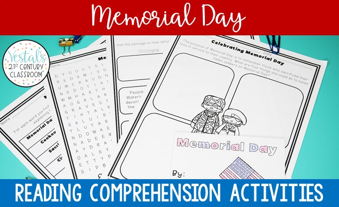 Memorial day reading comprehension pdf activities marvelous image