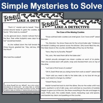 Mystery reading passages 5th grade outstanding inference activities and short stories