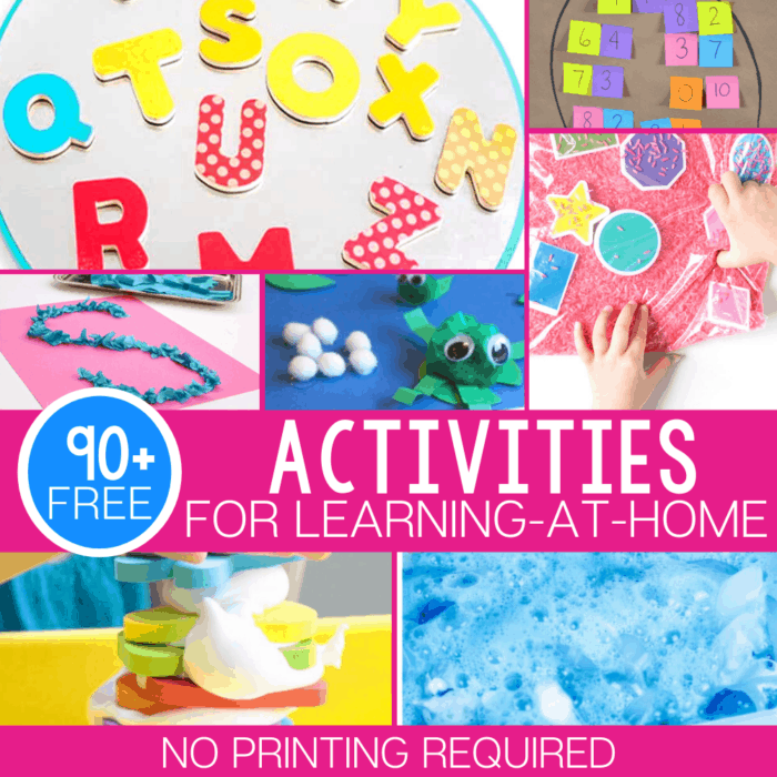 Non printable activities square 700x700 free learning materials for kindergarten easy at home with