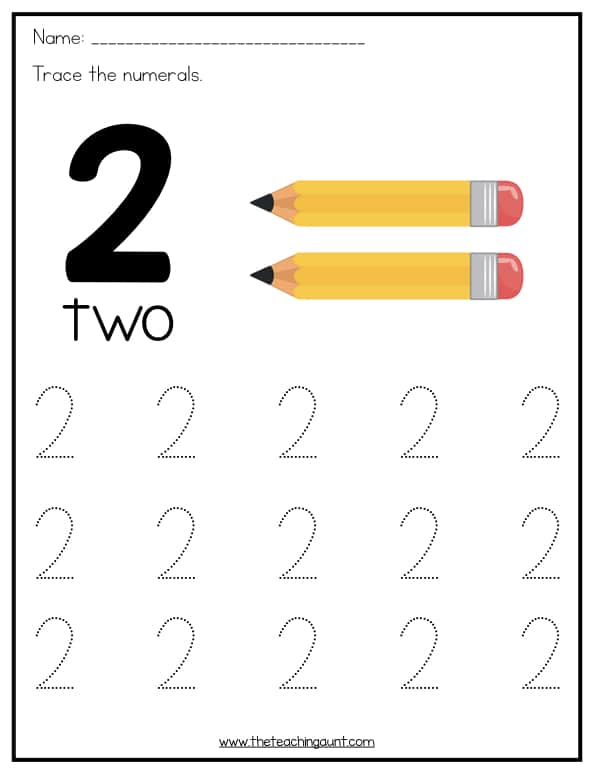 Number tracingksheets for preschoolers the teaching aunt toddlers fantastic page