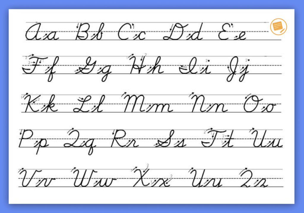 O in cursive letters printable alphabet chart writing worksheets pdf generator practice